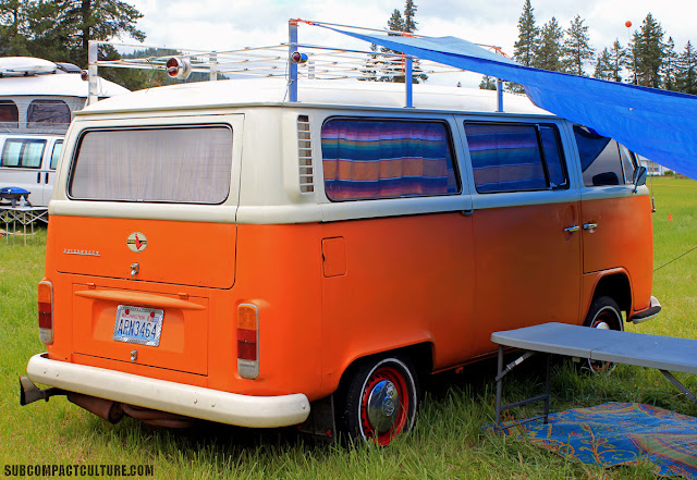 Who doesn't love a good ol' VW bus? It's the classic travel vehicle, and it's even the right color.