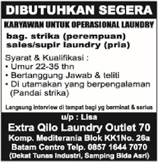 Loker Extra Qilo Laundry Outlet 70