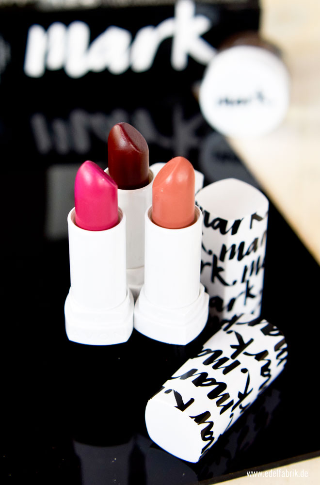 mark von Avon, Plump It Lippenstifte, Review, matte Lipsticks von mark