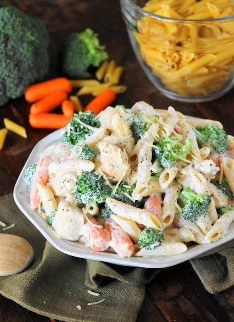 Easy dinner ideas ~ quick weeknight Chicken Penne Alfredo image