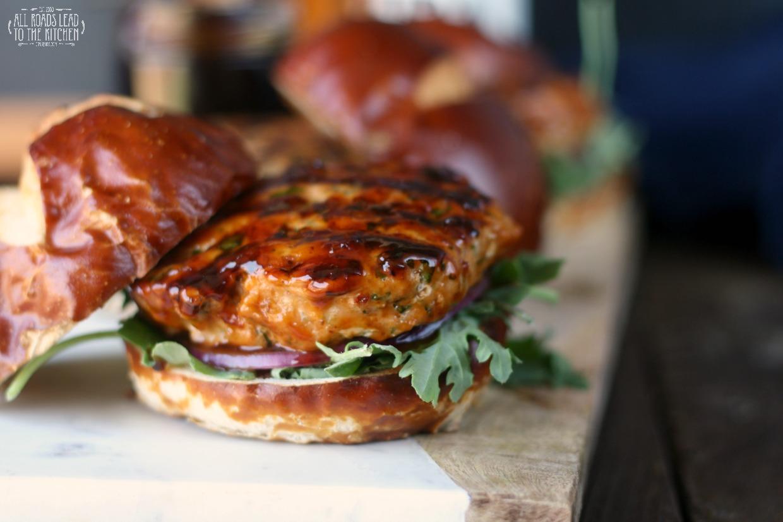 Mahi Mahi Burgers Glazed with IPA-Hoisin Barbecue Sauce | #BeerMonth ...
