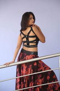 Shriya Vyas in a Tight Backless Sleeveless Crop top and Skirt 105.JPG