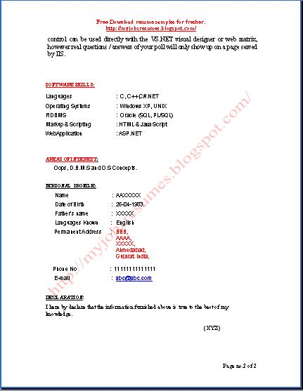 resume templates worksource