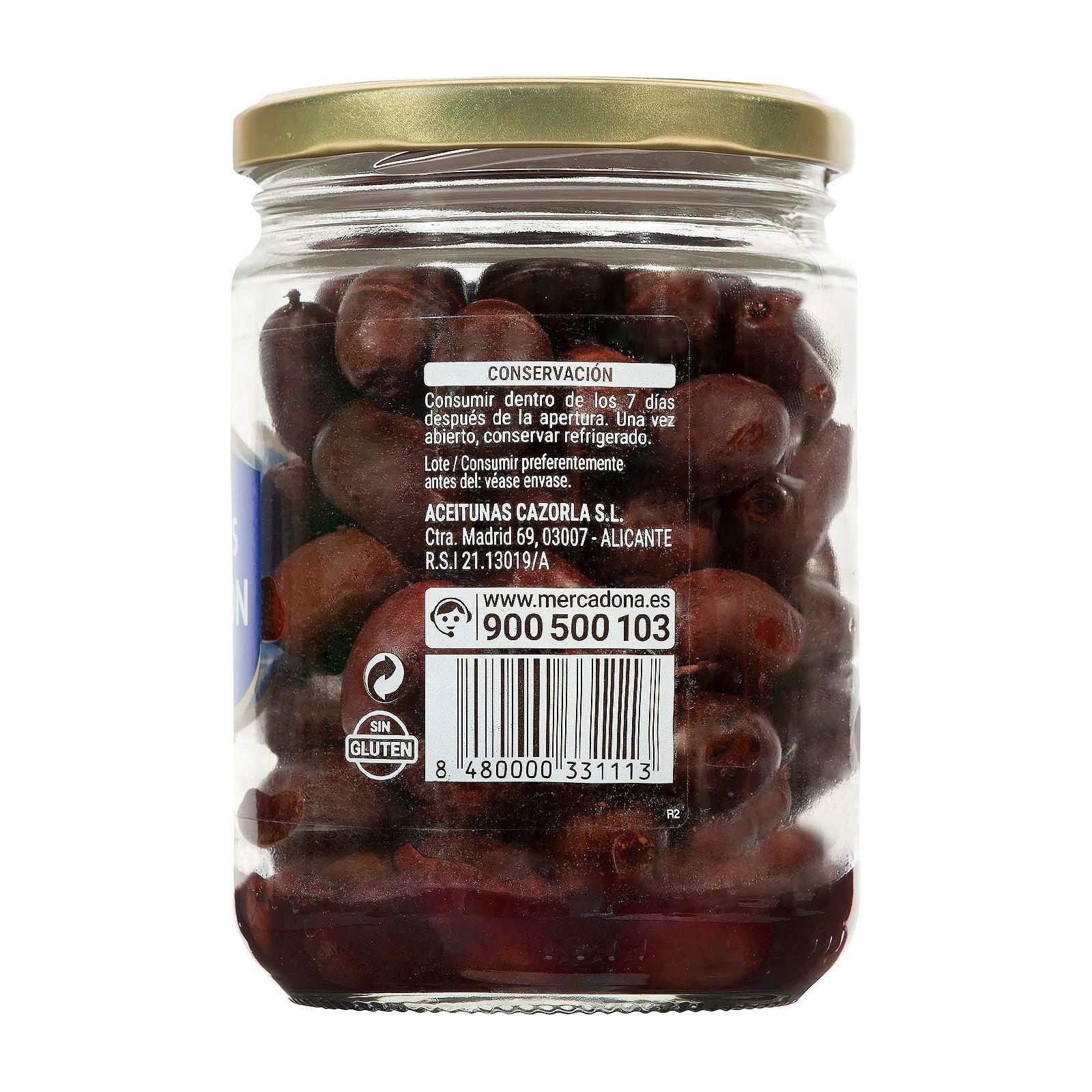 Aceitunas negras naturales de Aragón Hacendado
