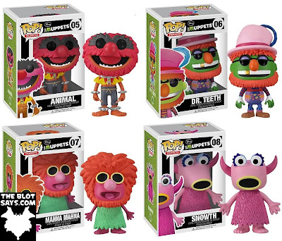 The Muppets Pop! Series 1 by Funko - Animal, Dr. Teeth, Mahna Mahna & Snowth Vinyl Figures