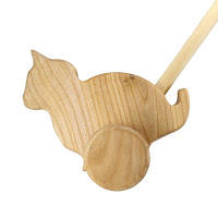 PU03, Push along Cat, Lotes Wooden Toys