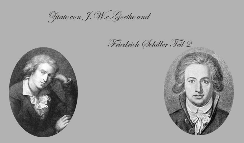 Zitate Goethe Schiller Spruche Zitate Weisheiten