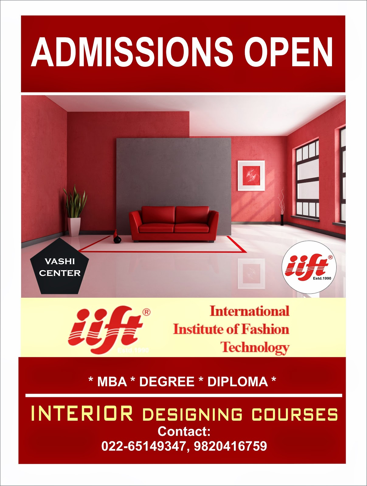 eligibility for mba in interior designing degree