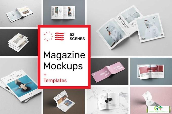 Magazine Mockups - 52 Scenes 5198551