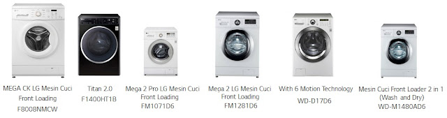 Harga & Spesifikasi 6 Mesin Cuci LG Front Loading