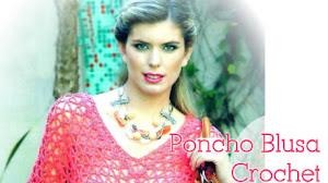 Blusa Poncho Crochet Fácil Paso a Paso