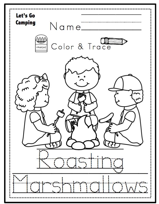 Let's Go Camping Printable No Prep ~ Preschool Printables
