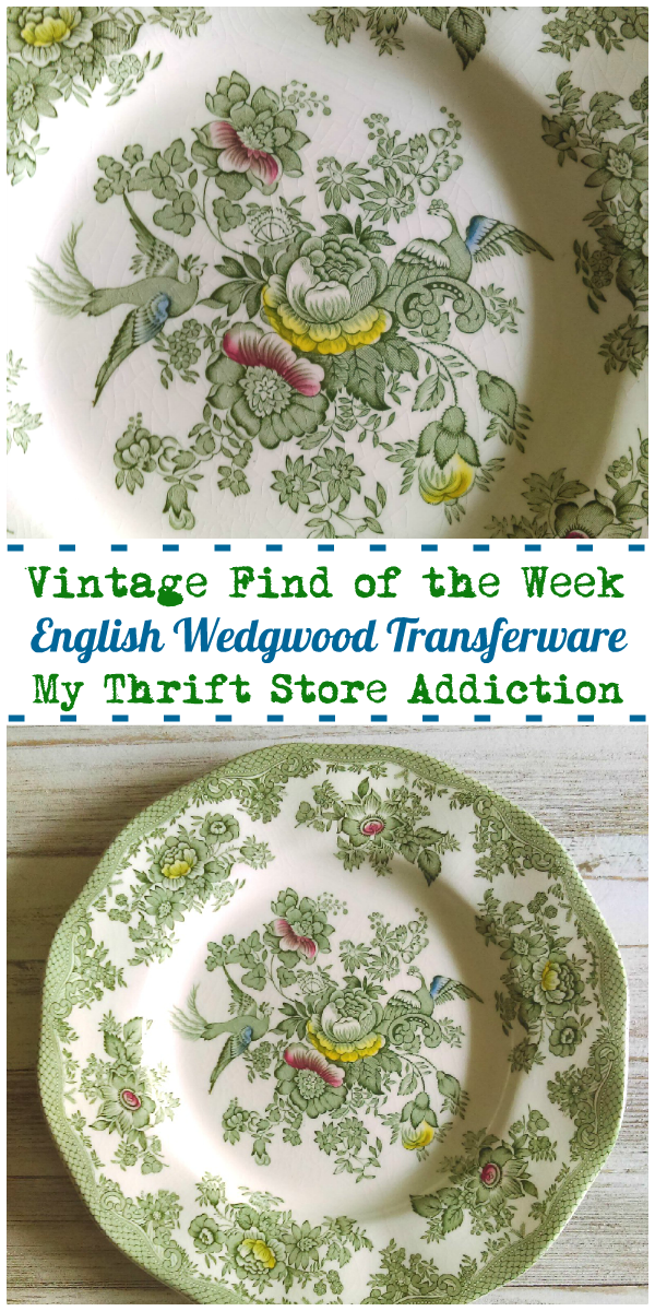 green transferware dishes