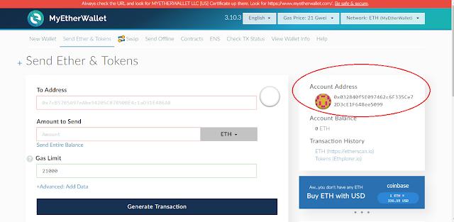 cara membuat akun Wallet ETH Gratis