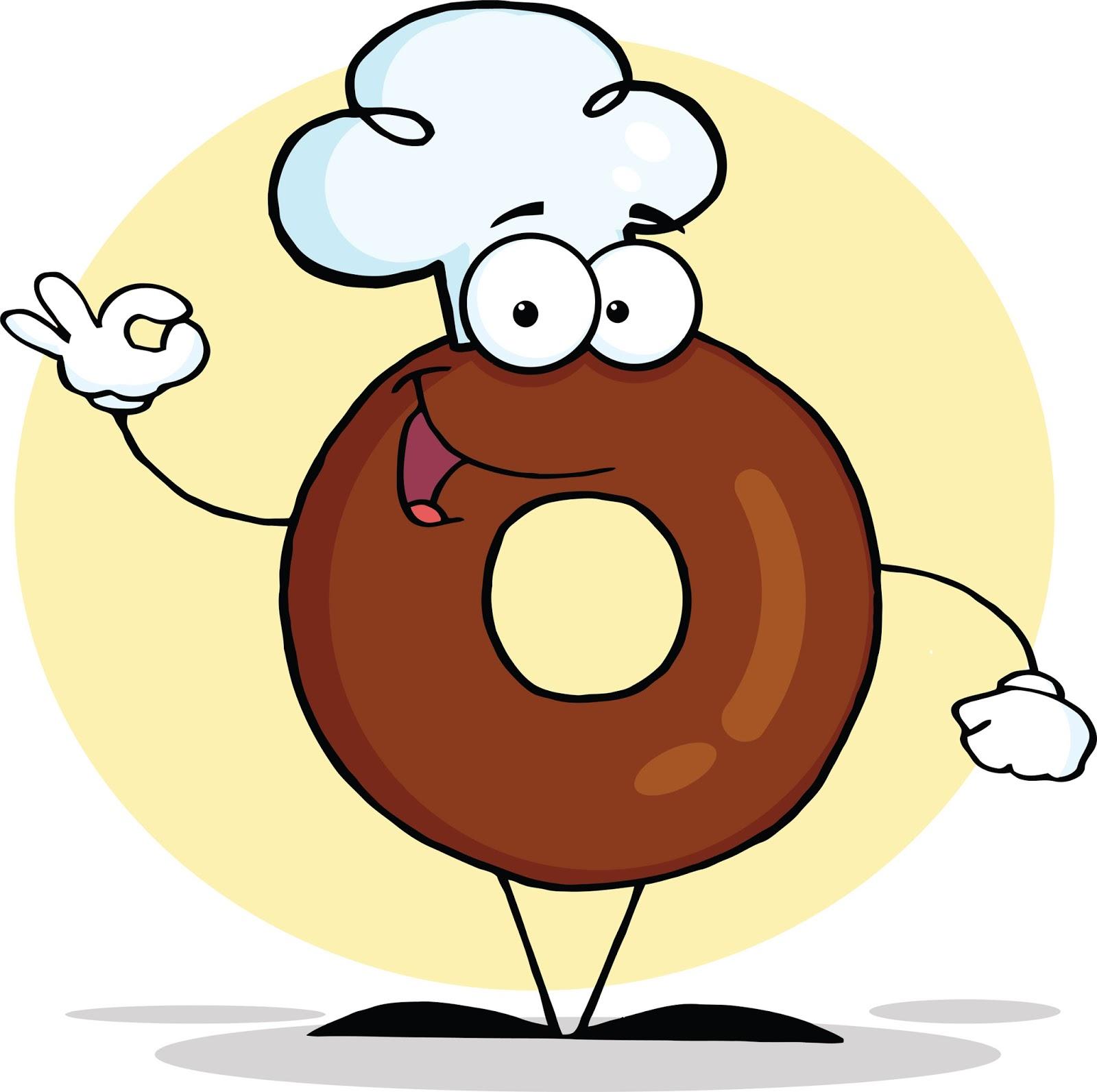 Картинка смешной пончик
