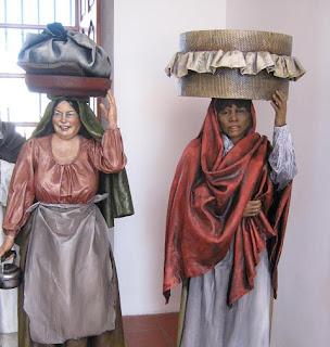 Mazamorrera y lavandera (réplica del Cabildo de San Luis).