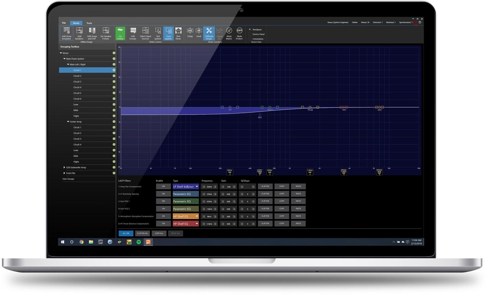 JBL HiQnet Performance Manager