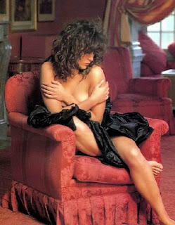Gorgeous Sophie Marceau Sitting On Couch