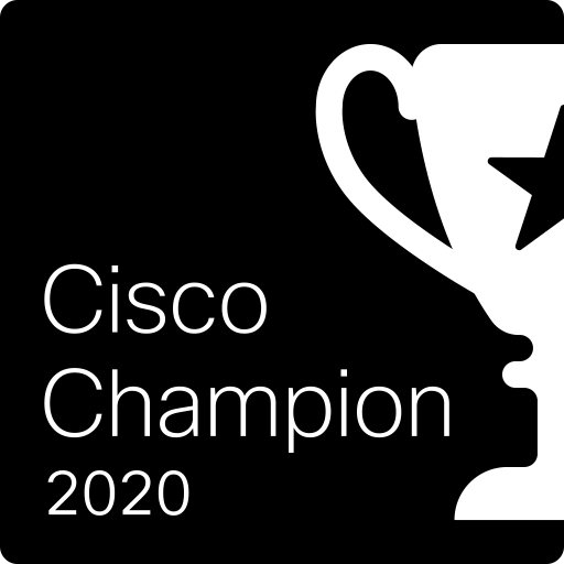 Cisco Champion Award Winner 2020 !
