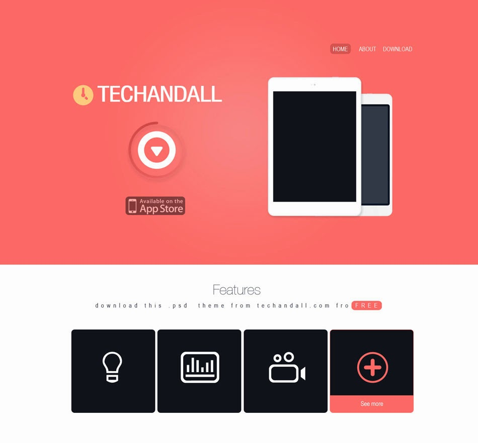 Theme 45 - One Page PSD Template