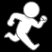 走る人のイラスト(棒人間)