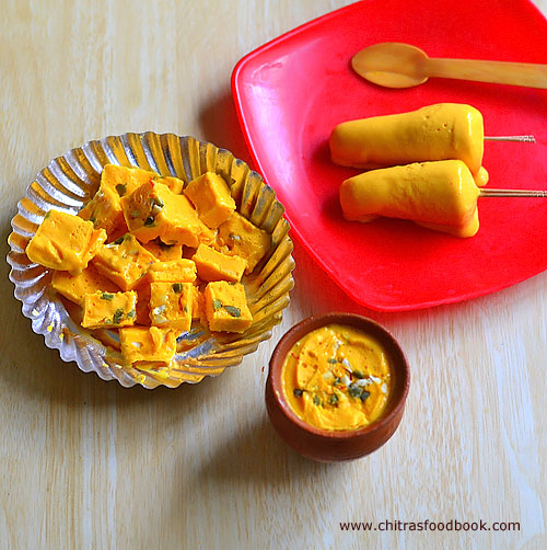 Mango Kulfi Recipe With Condensed Milk