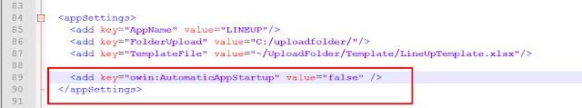 ASP.NET Error Owin Startup