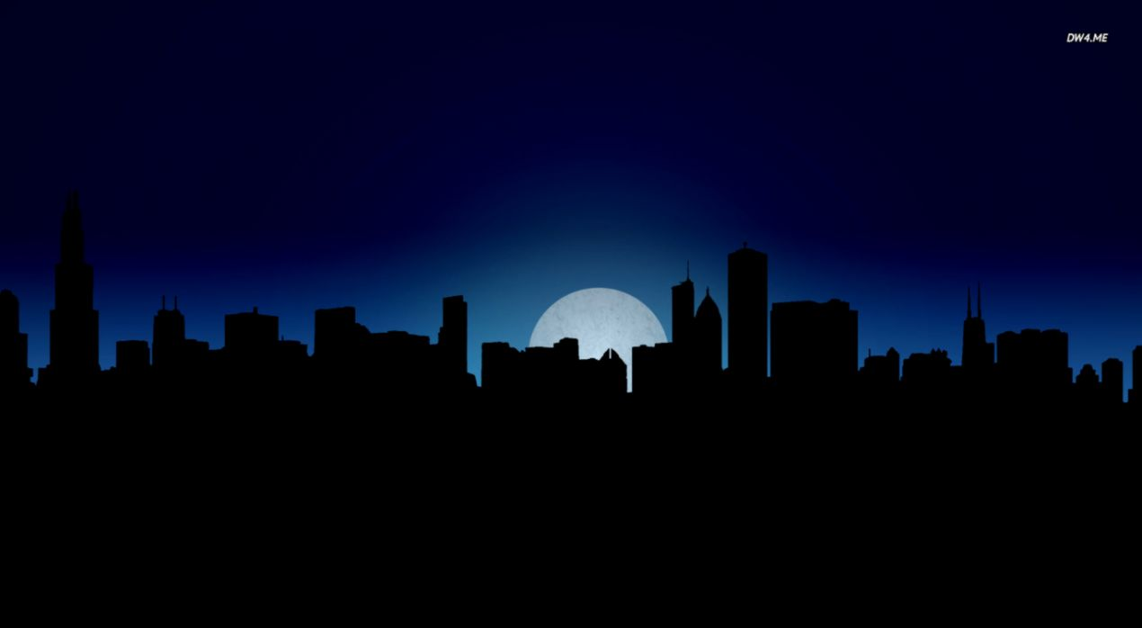 City Night Skyline Wallpaper Wallpapers Dom Wallpapers