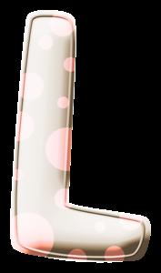 Letras Beige con Lunares Rosados. Pink Polka Dots Letters.