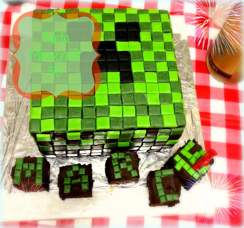 No solo cupcakes... con Mara : TARTA MINECRAFT 3D PARA EL CUMPLEAÑOS ...