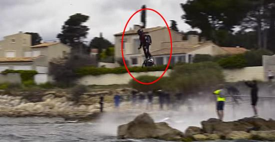 Skate voador Flyboard Air de Franky Zapata