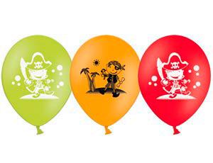 Воздушные шарики с веселыми пиратами