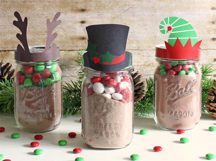 Free printable mason jar gift toppers