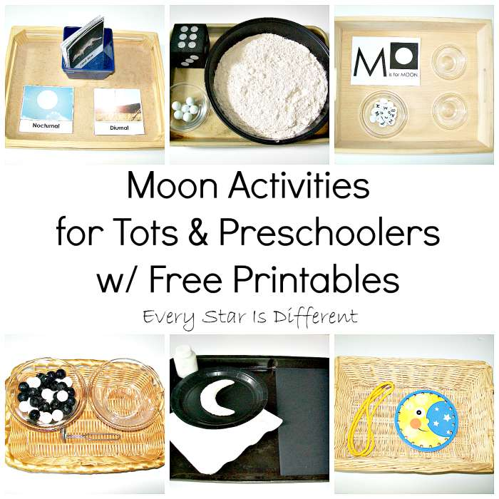 Moon Activiites for Tots & Preschoolers