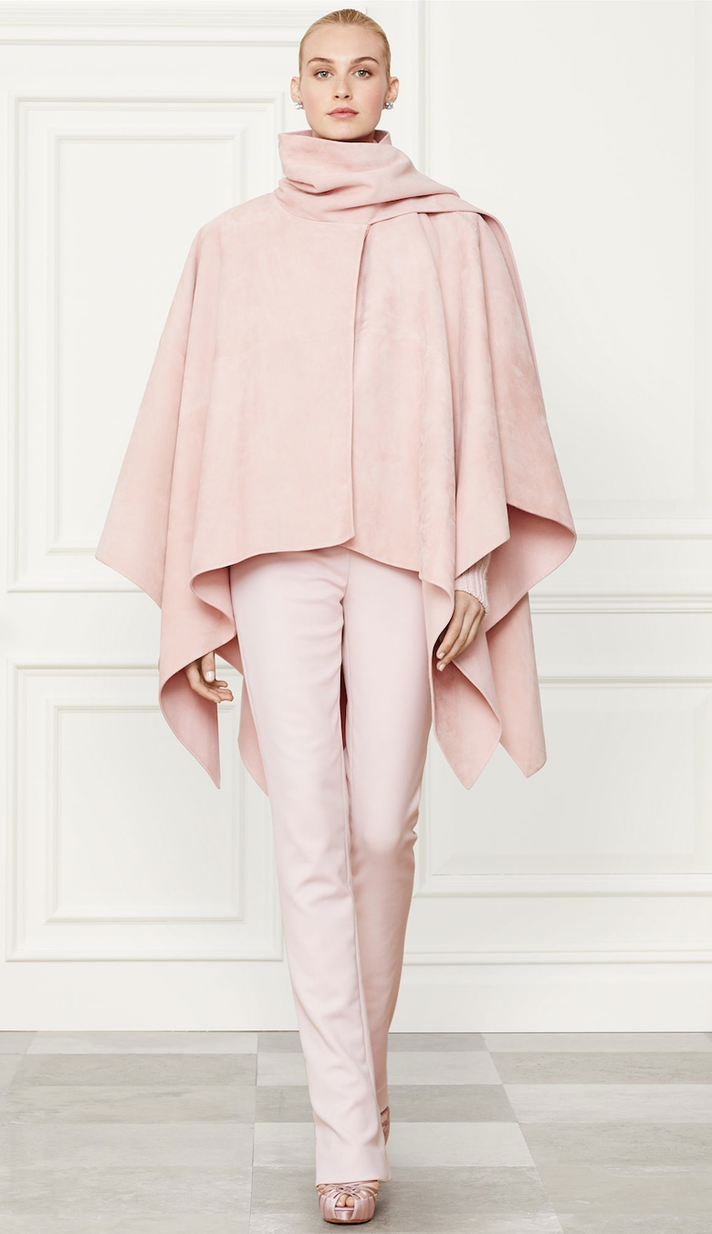 Ralph Lauren Apparel Suede Joslyn Cape Fall 2014 Collection