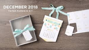 Stampin'UP!'s (Paper Pumpkin) Monthly Craft Kit is a Desk Calendar