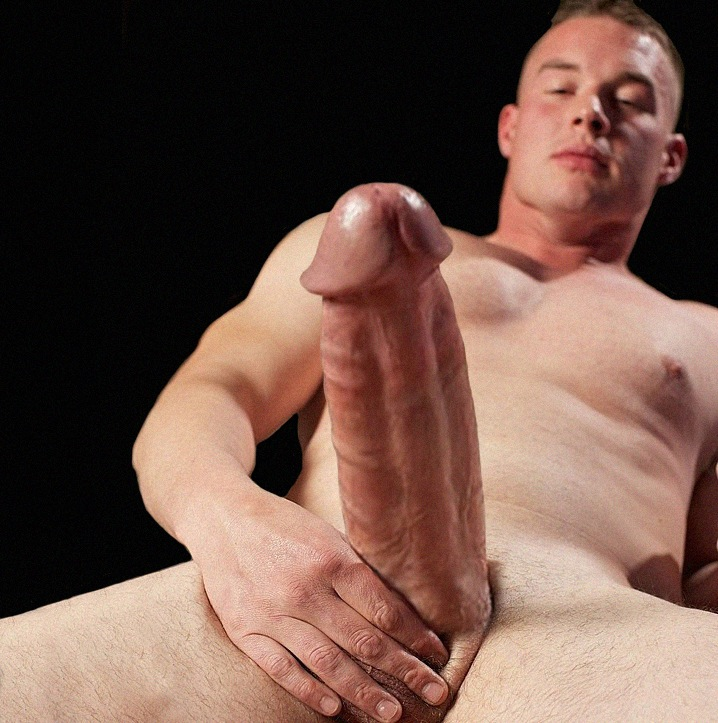 Hot man with a big thick hard dick