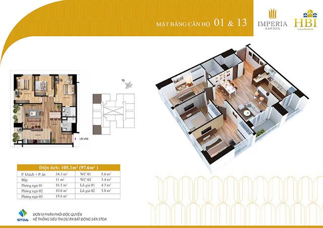 Thiết kế căn hộ 01 13