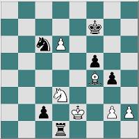 Partida de ajedrez Ulvestad – Frank, 1971, despues de 46... Cc6