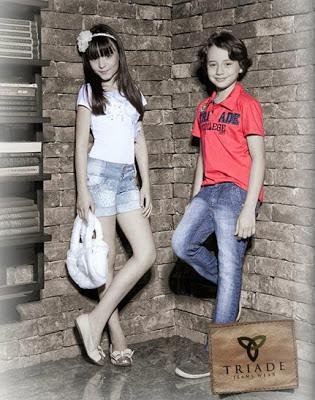 Coleção Outono Inverno da Tríade Jeans com Larissa Manoela e Léo Belmonte
