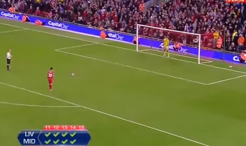 Liverpool vs Middlesbrough pertandingan adu penalti terlama di dunia