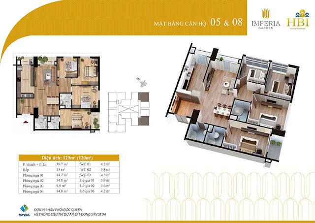 Thiết kế căn hộ 05 08