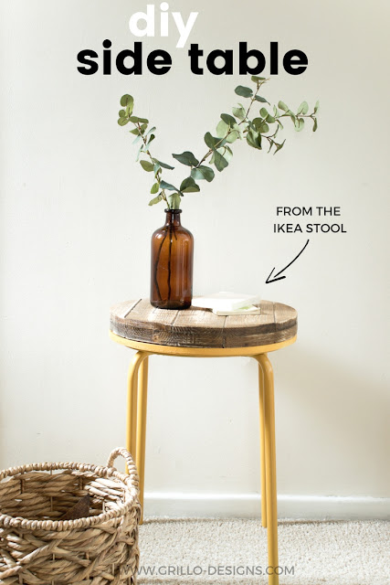 industrial-side-table-made-from-Ikea-stool