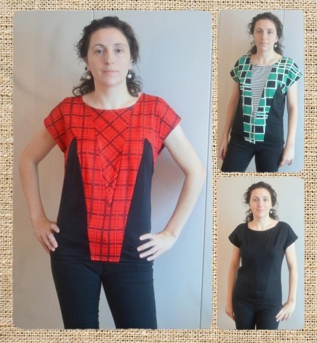 I believe I can sew...: Lekala 4511 V top with dark side panels