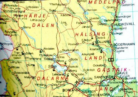 hälsingland karta Karta över Hälsingland Regionen | Karta över Sverige, Geografisk  hälsingland karta
