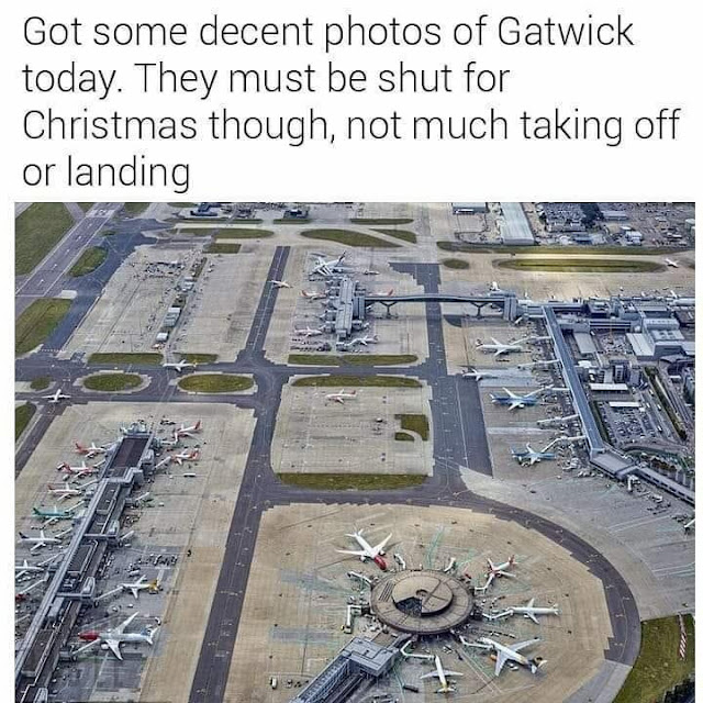 Got some decent photos of Gatwick today. They must be shut for Christmas though, not much taking off or landing