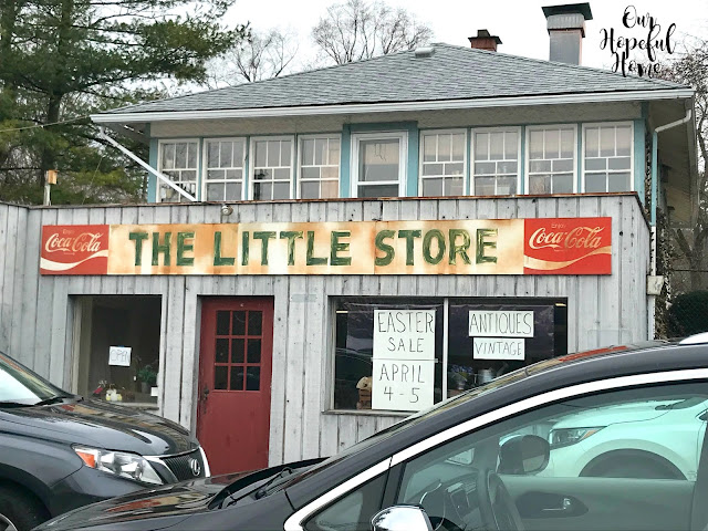 storefront old Coca-Cola sign Easter Sale antiques The Little Store