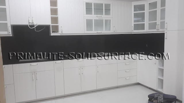 Meja Dapur, Jual Top Table Solid Surface, Harga Solid Surface Per Meter Murah, Kualitas Terbaik