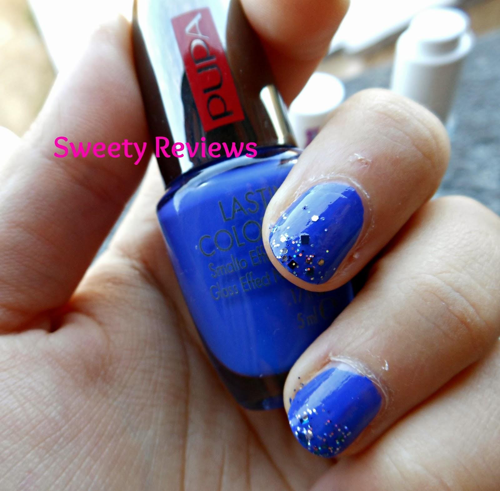 Sweety Reviews: [Swatch] Lasting color gel n. 54 Pupa Blue ...