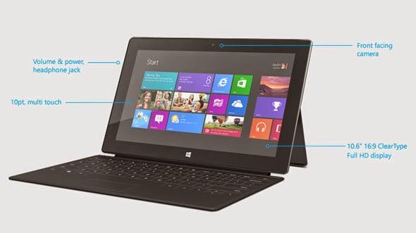 Surface Pro, Tablet Windows 8 Dengan Prosesor Intel